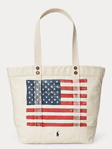 Polo Ralph Lauren  Distressed Flag Canvas Tote