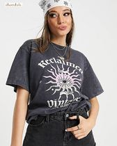 ASOS*Reclaimed Vintage*プリントTシャツ/charcoal