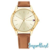 Brown Leather Strap Watch 34mm,