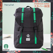 【韓国スタバ】Herschel★Green Backpack
