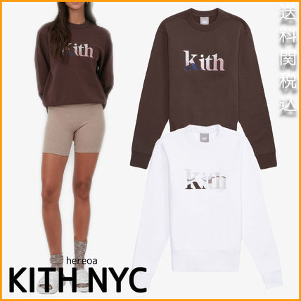 KITH NYC◆ Women Landscape Serif Embroidered Asher Crew