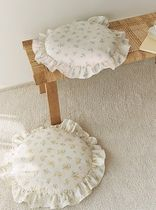 【DECO VIEW】Cottage Flower Frill Round Cushion