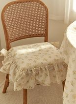 【DECO VIEW】Cottage Flower Seat Cushion Cover