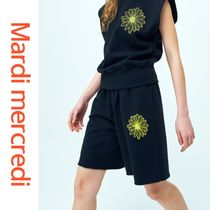 韓国人気★Mardi mercredi★SWEAT BERMUDA BLACK-YELLOW