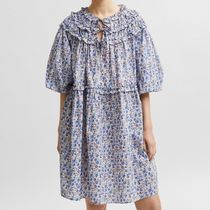 """SELECTED(セレクトテッド) ワンピース """"SELECTED"""" FLORAL PRINT DRESS WHITE/BLUE/LILAC"""