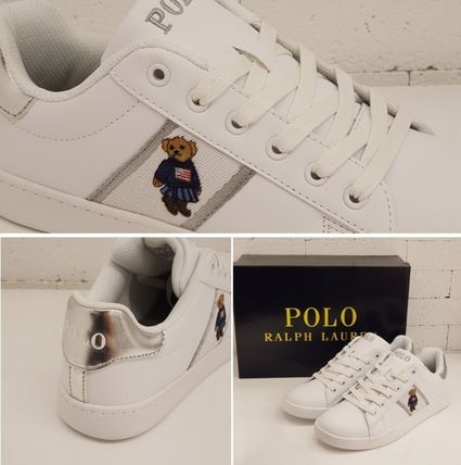 【POLO RALPH LAUREN】QUILTON BEARスニーカー RFS11027LC-W