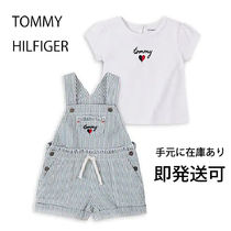【Tommy Hilfiger】baby girl ロゴ入りサロペットセット 12~24M