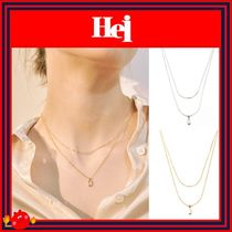 [Hei]芸能人着用/人気/baguette layered necklace/2色 ◆追跡付