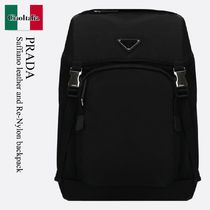 Prada Saffiano leather and Re-Nylon backpack