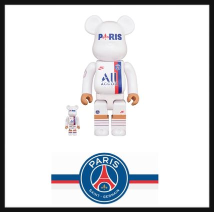 Nike オブジェ 入手困難■Bearbrick Paris Saint Germain 100%/400%set■