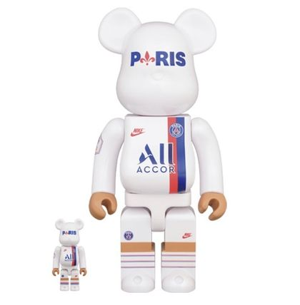 Nike オブジェ 入手困難■Bearbrick Paris Saint Germain 100%/400%set■(2)