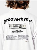 GROOVE RHYME(グルーヴライム) Tシャツ・カットソー セール!!GROOVERHYME*RADIO PRINT OVER FIT T-SHIRTS (WHITE)