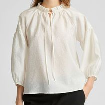 """SELECTED(セレクトテッド) ブラウス・シャツ """"SELECTED"""" FRILL NECK BLOUSE IVORY"""