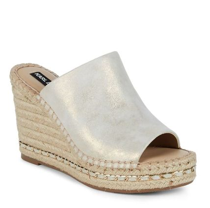 【Karl Lagerfeld】Carina Suede Espadrille Sandals/サンダル