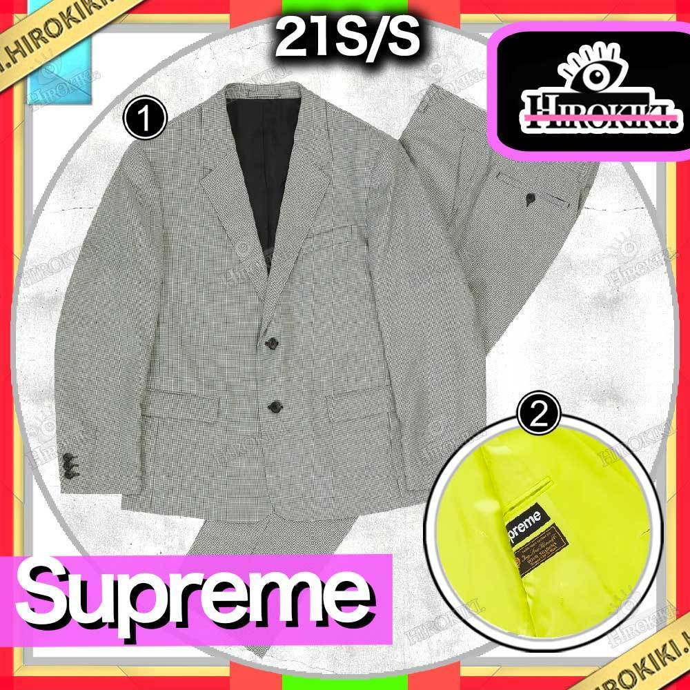 21SS /Supreme Wool Suit ウール スーツ セットアップ Set Up (Supreme/テーラードジャケット) 21SS SS21  Supreme Wool Suit  Houndstooth /Bright Yellow