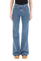 CHLOE▲FLARED JEANS WITH LASERED LOGO