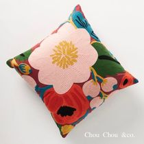 【Anthropologie】Rifle Paper Co.x Loloi 花柄 刺繍 クッション