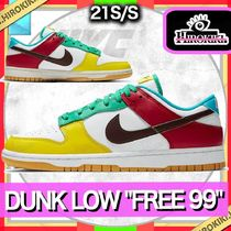NIKE DUNK LOW SE FREE 99 LIGHT CHOCOLATE/ROMA GREEN ダンク