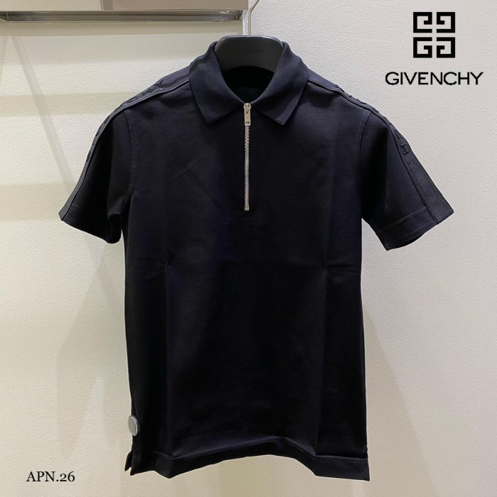 GIVENCHY◆直営買付 コットン ジッピングポロシャツ スリム 人気 (GIVENCHY/ポロシャツ) 68320573