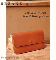 SALE*Sezane*CHARLIE WALLET  Smooth Heritage Came