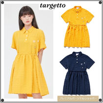 TARGETTO SEOULのCHECK SHIRRING ONEPIECE 全2色