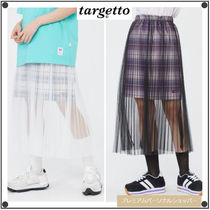 TARGETTO SEOULのCHECK LAYERED LACE LONG SKIRT 全2色