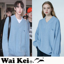 ★NCTドヨン着用★『WaiKei』Dolphin Embroidery Vneck Woolknit