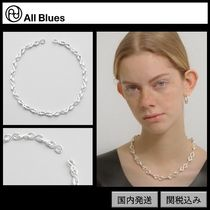 【All Blues】S necklace Polished silver 45cm silver