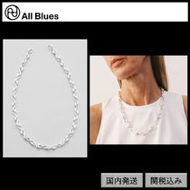 【All Blues】S necklace Polished silver 53cm silver
