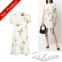 ★21SS★【RED VALENTINO】MAY LILYプリント シルク ドレス