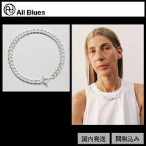 【All Blues】Moto necklace Polished silver 42cm