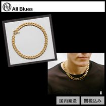 【All Blues】Moto necklace Polished gold 42cm