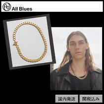 【All Blues】Moto necklace Polished gold 52cm
