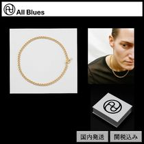 【All Blues】DNA necklace Polished gold 42cm