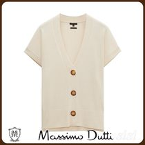 MassimoDutti♪KNIT CARDIGAN WITH SHORT SLEEVES