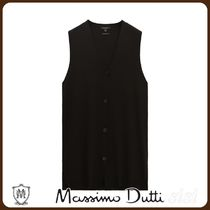 MassimoDutti♪LONG KNIT VEST WITH BUTTONS