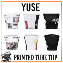 【YUSE:】PRINTED TUBE TOP ★ ITZY ユナ 着用品 ★