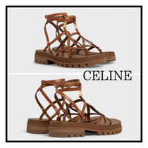 CELINE☆ Clea Sandal With Vegetable Calf Tan Triomphe Lady's