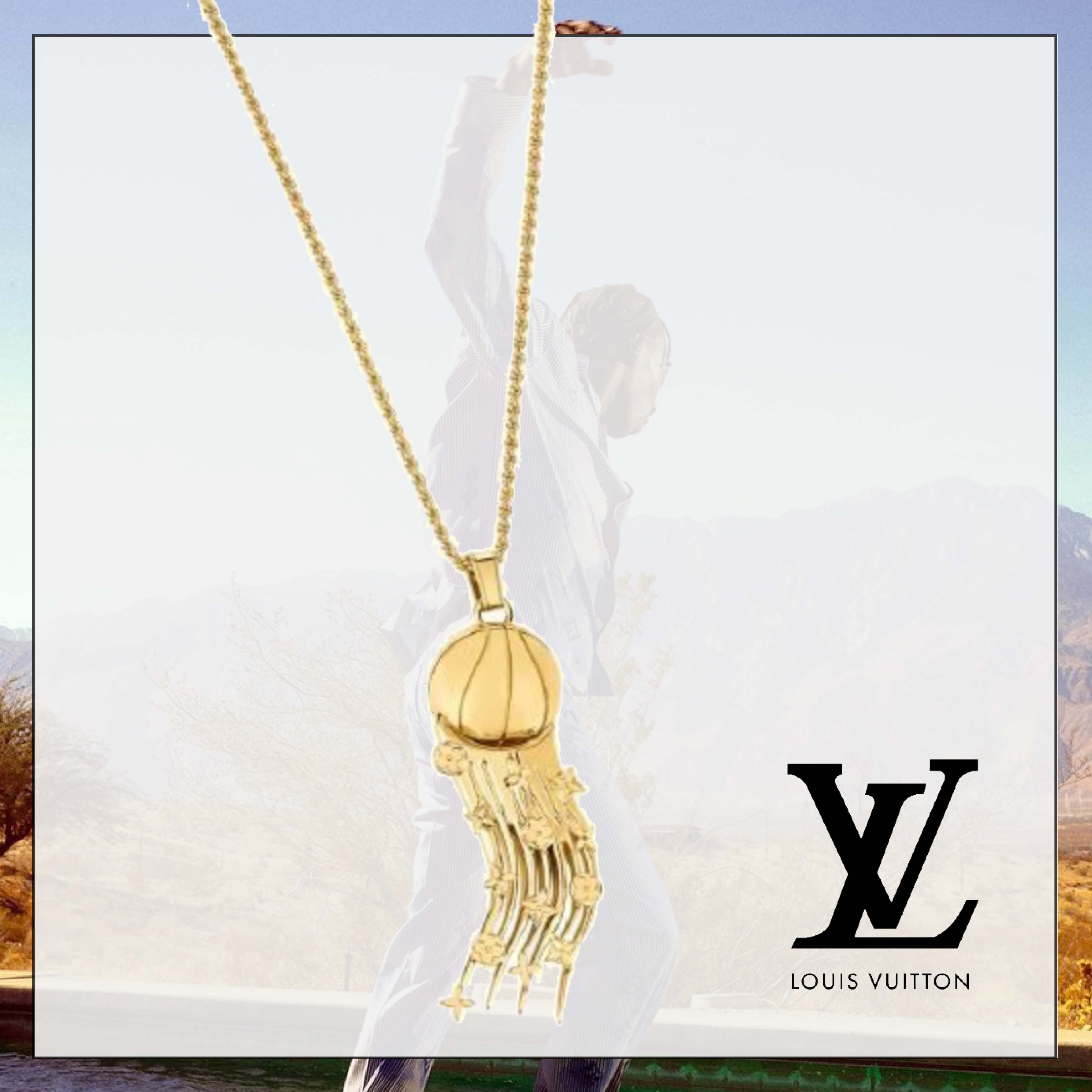 《LV×NBAコラボ★新作》ルイヴィトン FLYING BALL NECKLACE (Louis Vuitton/雑貨・その他) MP3055