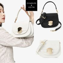 ★Charles & Keith★Metal accent shoulder cross bag★2色