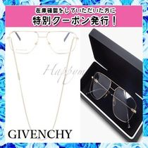 GIVENCHY アビエイターメガネ&チェーン Gold〇関送・送料無料〇