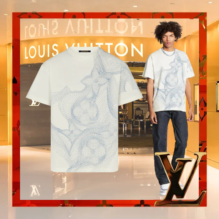Louis Vuitton 2021 春夏 フラワー グラフィックプリントTシャツ (Louis Vuitton/ポロシャツ) 1A8A00