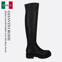 Gianvito Rossi Quinn smooth leather over-the-knee boots
