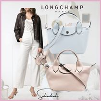 LONGCHAMP☆LE PLIAGE CUIR MINI ハンドバッグ