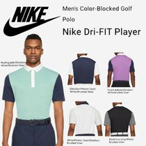NEW【NIKE】Men's Color-Blocked Golf Polo Nike Dri-FIT Player