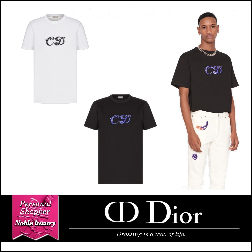 2021SS 新作 DIOR AND KENNY SCHARF Tシャツ コットン 2色展開 (Dior/Tシャツ・カットソー) 68402324