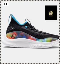 【UA】☆CURRY FLOW 8 Basketball shoes ☆Black PRNT(3024032)