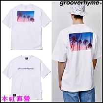 GROOVE RHYME(グルーヴライム) Tシャツ・カットソー 【GROOVERHYME】◆PALM TREE PRINT OVER FIT T-SHIRTS (WHITE)◆