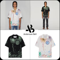 [ANDERSSON BELL]★FIREWORKS GRAPHIC OPEN COLLAR SHIRTS
