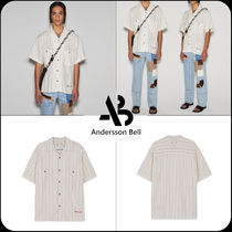 [ANDERSSON BELL]★ETHNIC EMBROIDERY OPEN COLLAR SHIRTS